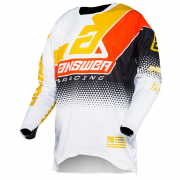Answer Elite Black White Bus Orange Jersey