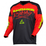 Answer Syncron Pro Glo Red Black Hyperacid Jersey