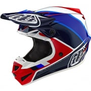 Troy Lee Designs Beta Red Blue Polyacrylite Helmet