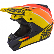 Troy Lee Designs Beta Navy Yellow Polyacrylite Helmet