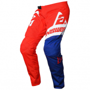 Answer Syncron Kids Voyd Red Reflex White Pants