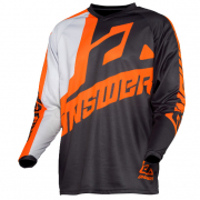 Answer Syncron Kids Voyd Charcoal Grey Orange Jersey
