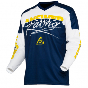 Answer Syncron Kids Pro Glo Yellow Midnight White Jersey