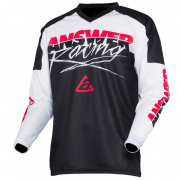 Answer Syncron Kids Pro Glo White Black Pink Jersey