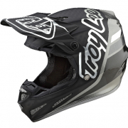 Troy Lee Designs SE4 Carbon Silhouette Black Silver Helmet