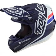 Troy Lee Designs SE4 Carbon Silhouette Blue White Helmet