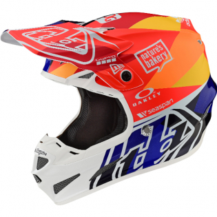 Troy Lee Designs SE4 Jet Orange Navy Composite Helmet