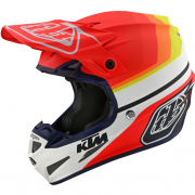 Troy Lee Designs SE4 KTM Mirage White Red Composite Helmet