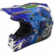 Troy Lee Designs SE4 Malcolm Smith Blue Composite Helmet