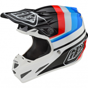 Troy Lee Designs SE4 Mirage White Black Composite Helmet