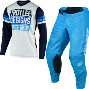 Troy Lee Designs GP Air Carlsbad White Navy Kit Combo