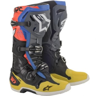 Alpinestars Tech 10 Black Yellow Blue Red Fluo Boots