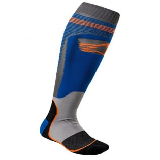 Alpinestars Plus-1 Blue Orange Fluo MX Socks