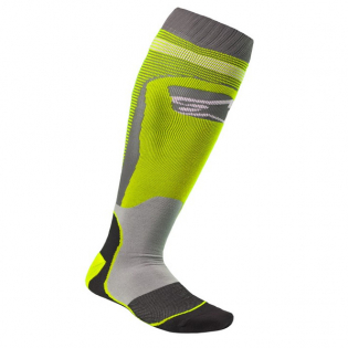 Alpinestars Plus-1 Yellow Fluo Cool Grey MX Socks