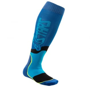 Alpinestars Plus-2 Blue Cyan MX Socks