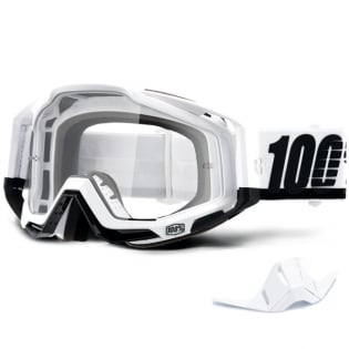 100% Racecraft Stuu Clear Lens Goggles