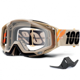 100% Racecraft Poliet Clear Lens Goggles