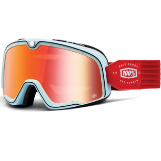 100% Barstow Classic Carlyle True Red Lens Goggles