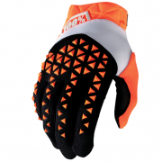 100% Airmatic Orange Black Gloves