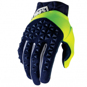 100% Airmatic Navy Fluo Yellow Gloves