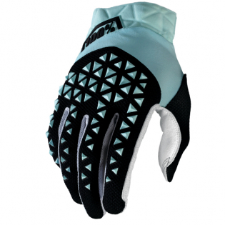 100% Airmatic Sky Blue Black Gloves