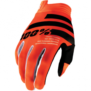100% iTrack Kids Fluo Orange Black Motocross Gloves