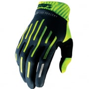 100% RideFit Fluo Yellow Charcoal Motocross Gloves