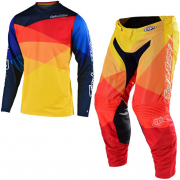 Troy Lee Designs Kids GP Jet Yellow Orange Kit Combo