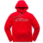Alpinestars Blaze Fleece Red Grey Hoodie