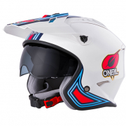 ONeal Volt MN1 White Red Blue Trials Helmet