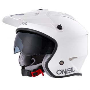ONeal Volt Solid White Trials Helmet