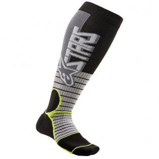 Alpinestars Pro Cool Grey Yellow Flou MX Socks