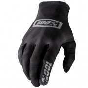 100% Celium Black Silver Gloves