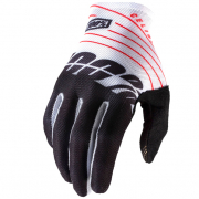 100% Celium Black White Gloves