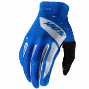 100% Celium Blue White Gloves