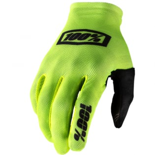 100% Celium Fluo Yellow Black Gloves