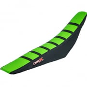 CrossX Stripe Kawasaki Green Black Black Ribbed Seat Cover
