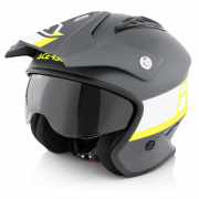 Acerbis Jet Aria Black Fluo Yellow Trials Helmet