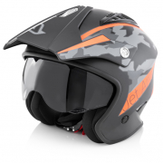 Acerbis Jet Aria Black Orange Trials Helmet