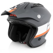 Acerbis Jet Aria Grey White Trials Helmet