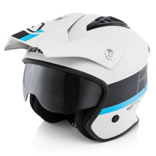 Acerbis Jet Aria Grey Black Trials Helmet