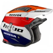 Hebo Zone 4 Fibre Montesa Team lll Repsol Blue/Orange Helmet