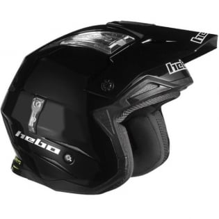 Hebo Zone 4 Mono Black Trials Helmet