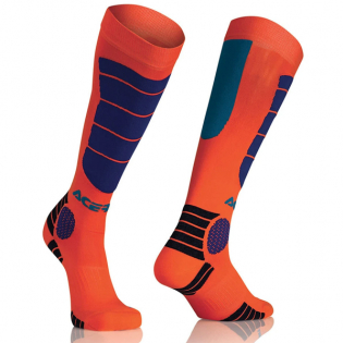 Acerbis Kids Impact Fluo Orange Blue Motocross Socks