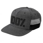 100% Frontier Grey Heather Snapback Hat