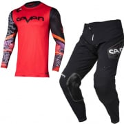 Seven MX Zero Ethika Black Red Kit Combo