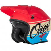 ONeal Slat VX1 Red Blue Trials Helmet