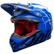 Bell Moto 9 Carbon Flex Fasthouse Day in the Dirt Blue White Gloss Helmet