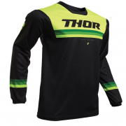 Thor Kids Pulse Air Pinner Black Acid Jersey