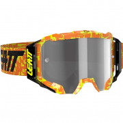 Leatt 5.5 Velocity Neon Orange Light Grey Lens Goggles